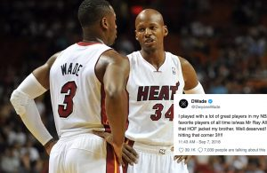 Dwyane Wade and Ray Allen Miami Heat