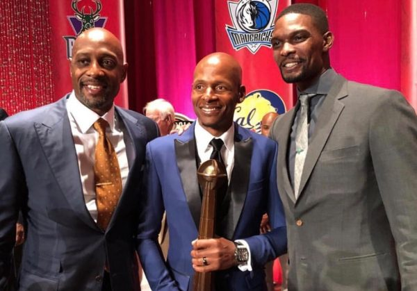 Alonzo Mourning, Ray Allen, and Chris Bosh