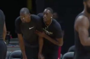 Kevin Durant and Bam Adebayo