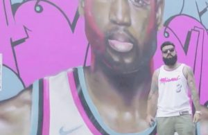 Miami-based artist paints Dwyane Wade