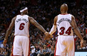 LeBron James and Ray Allen