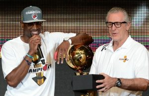 Dwyane Wade and Pat Riley Miami Heat