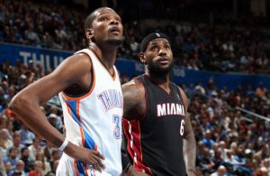 Kevin Durant and LeBron James 2011