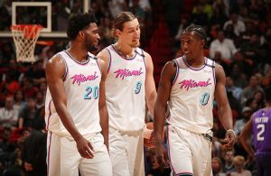 Justise Winslow, Kelly Olynyk, and Josh Richardson