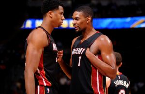 Hassan Whiteside and Chris Bosh Miami Heat