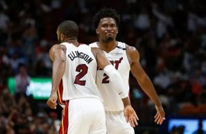 Wayne Ellington and Justise Winslow Miami Heat