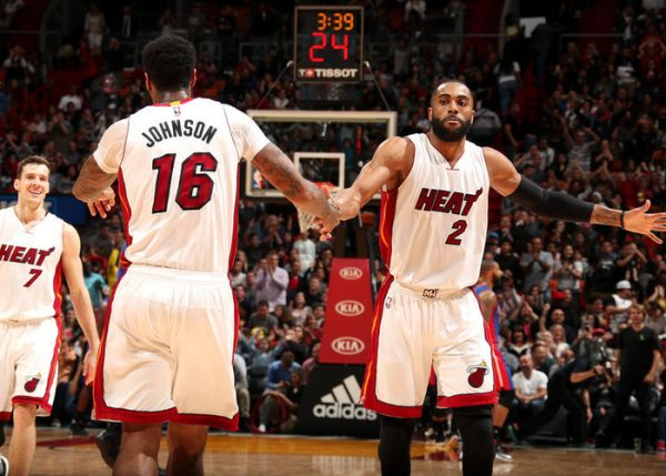 James Johnson and Wayne Ellington Miami Heat