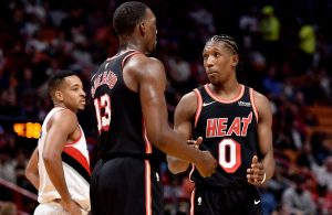 Bam Adebayo and Josh Richardson