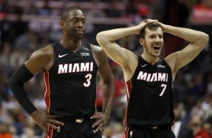 Dwyane Wade and Goran Dragic