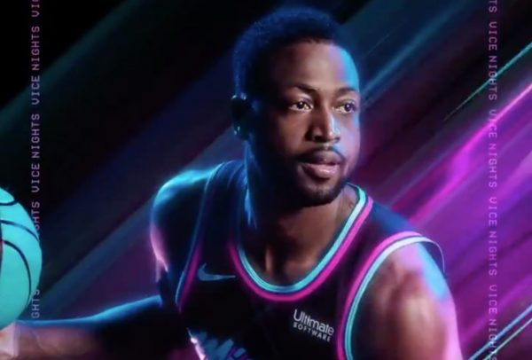 cheap for discount 8cfa1 1955d Dwyane Wade Seen in New Miami Heat Vice Nights Jersey - Heat ...