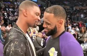 Chris Bosh and LeBron James Lakers