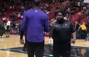 LeBron James and Miami Heat Staff Member