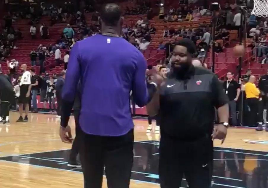 LeBron James and Miami Heat Staff Member
