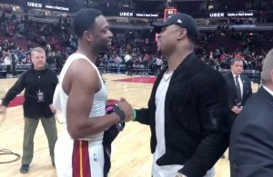 Dwyane Wade and Khalil Mack
