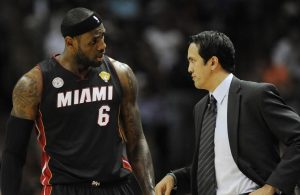 LeBron James and Erik Spoelstra Miami Heat