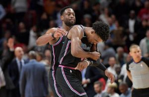 Dwyane Wade and Josh Richardson Miami Heat