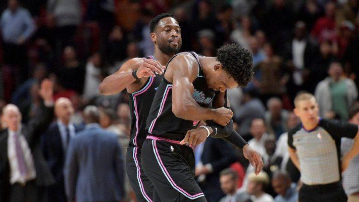 Dwyane Wade and Josh Richardson Miami Heat