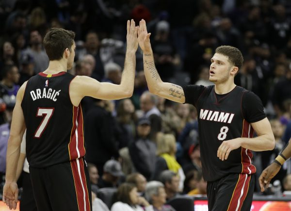 Goran Dragic and Tyler Johnson Miami Heat