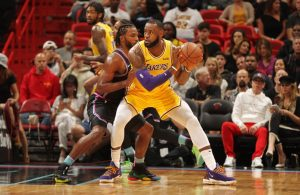 Justise Winslow and LeBron James Miami Heat Lakers