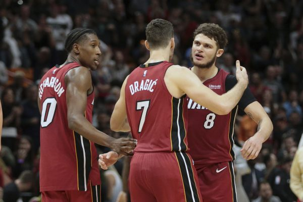 Josh Richardson, Goran Dragic, Tyler Johnson