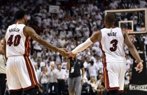 Udonis Haslem and Dwyane Wade Miami Heat