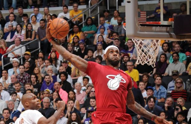 LeBron James Miami Heat Lakers