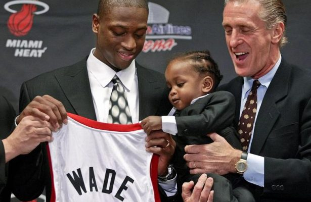Dwyane Wade and Pat Riley 2003 NBA Draft