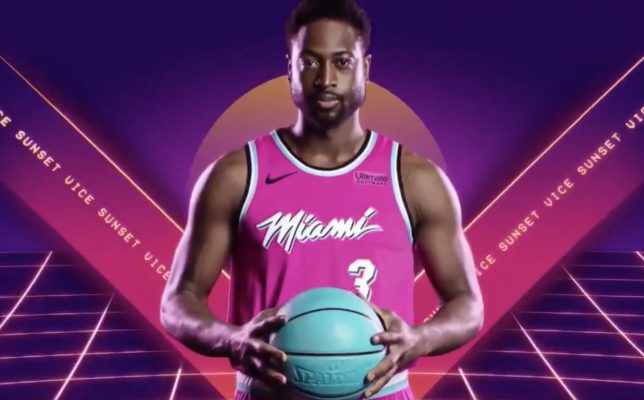 timeless design be685 53652 Video: Miami Heat Release Sneak Preview of New Sunset Vice ...