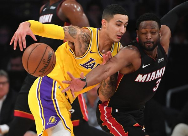 Kyle Kuzma and Dwyane Wade