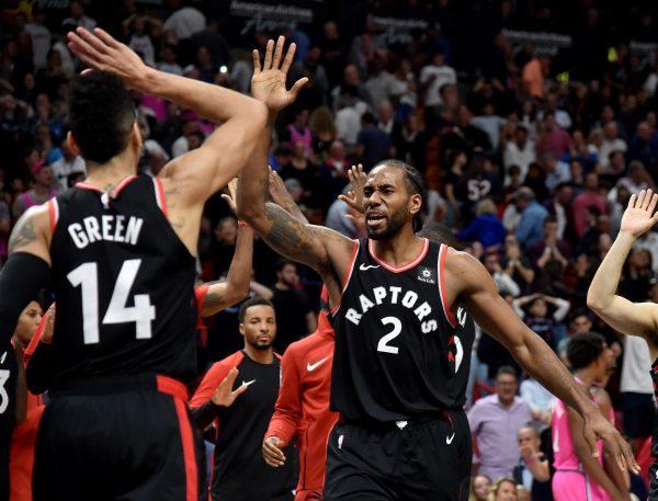 Kawhi Leonard Toronto Raptors and Miami Heat