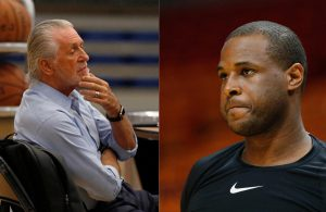 Pat Riley and Dion Waiters