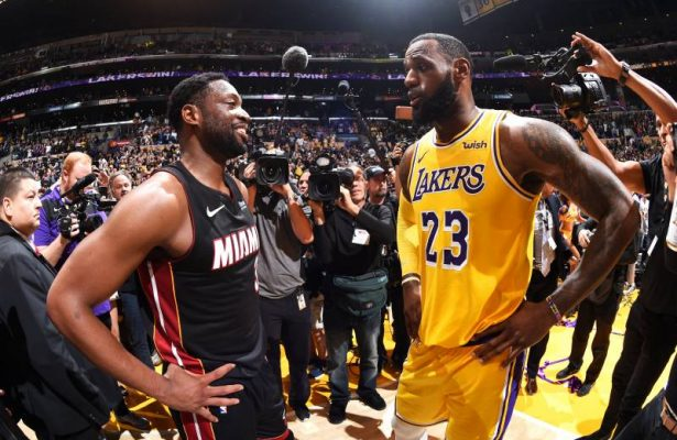 Dwyane Wade and LeBron James Heat Lakers