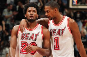 Justise Winslow and Chris Bosh Miami Heat