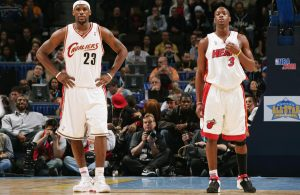 LeBron James and Dwyane Wade Cavs Heat