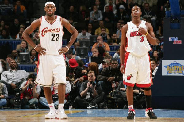 LeBron James and Dwyane Wade Cavs Heat