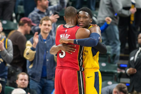Dwyane Wade and Victor Oladipo