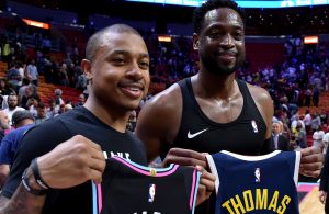 Isaiah Thomas and Dwyane Wade