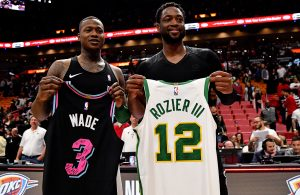 Terry Rozier and Dwyane Wade