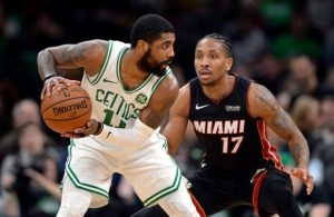 Kyrie Irving and Rodney McGruder Boston Celtics