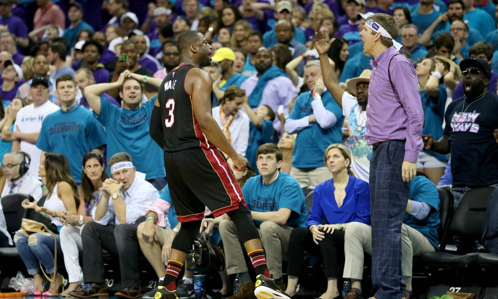 Dwyane Wade Purple Shirt Guy