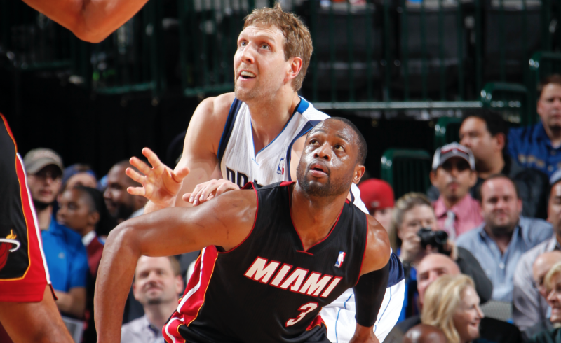 Sideline Photo Of Dirk Nowitzki, Dwyane Wade Is Going Viral