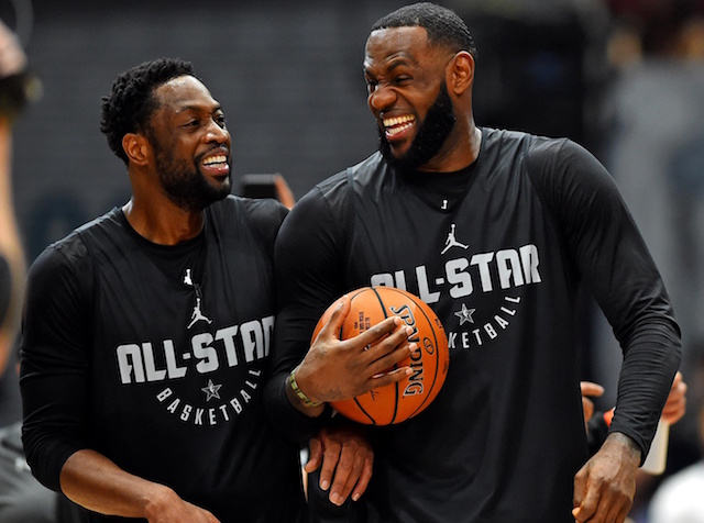 Dwyane Wade and LeBron James All-Star Game