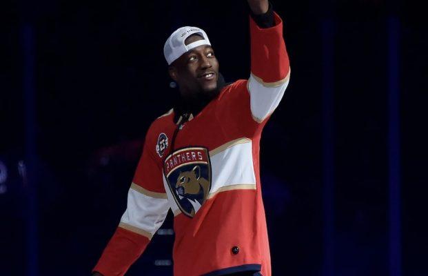 Bam Adebayo Does Ceremonial Puck Drop for Florida Panthers