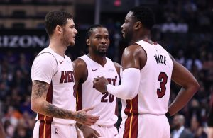 Tyler Johnson and Dwyane Wade