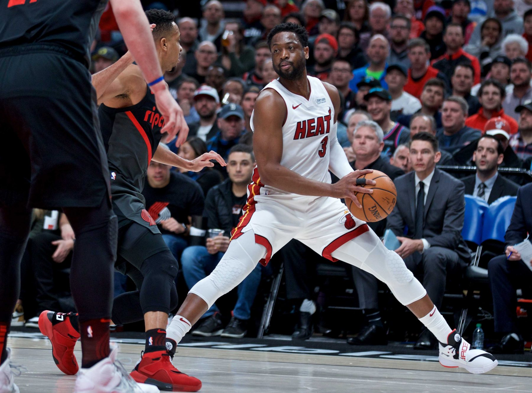 Dwyane Wade Miami Heat Trail Blazers