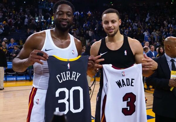Dwyane Wade and Stephen Curry