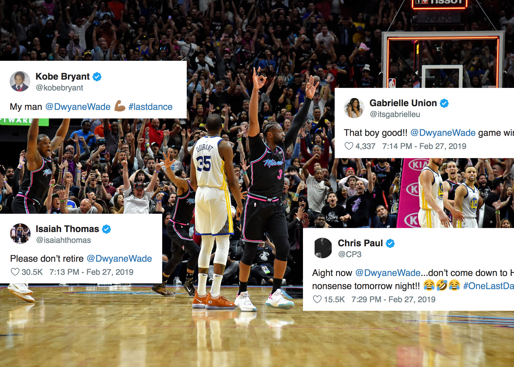 NBA World Reacts to Dwyane Wade s Epic Game-Winner vs. Golden State ... b2bec3d6e85