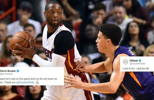 Dwyane Wade and Devin Booker