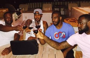 Dwyane Wade, Carmelo Anthony, Chris Paul, and LeBron James