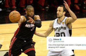 Dwyane Wade and Manu Ginobili Miami Heat and Spurs